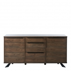 Orba - 3 Door Sideboard Smoked White Wild Oak Veneer