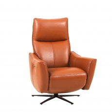 Murano - Power Recliner Chair In Leather Cat VC