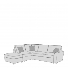 Dallas - Standard Back 2 Seat RHF Arm With LHF Chaise Including Footstool
