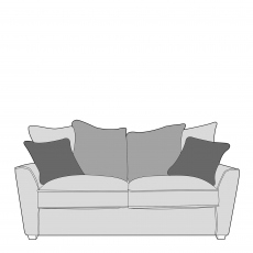 Dallas - Pillow Back 2 Seat Sofa In Fabric