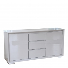 Serena - 160cm Sideboard Grey High Gloss Finish