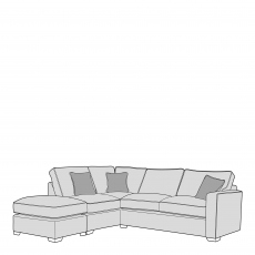 Layla - Standard Back 2 Seat Sofa RHF Arm With LHF Chaise Unit Including Footstool In Fabric
