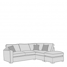 Layla - Standard Back 2 Seat Sofa LHF Arm With RHF Chaise Unit Including Footstool In Fabric
