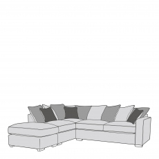 Layla - Pillow Back 2 Seat Sofa RHF Arm With LHF Chaise Unit Including Footstool In Fabric