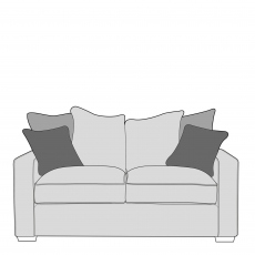 Layla - Pillow Back 2 Seat Sofa In Fabric