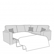 Layla - Standard Back 2 Seat Sofa Bed LHF Arm, Corner With 1 Seat Unit RHF Arm In Fabric