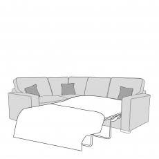 Layla - Standard Back 2 Seat Sofa Bed RHF Arm, Corner With 1 Seat Unit LHF Arm In Fabric
