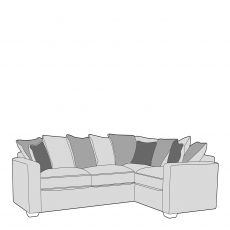 Layla - Pillow Back 1 Seat Sofa RHF Arm, Corner With 2 Seat Sofa LHF Arm In Fabric