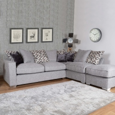 Layla - Standard Back 2 Seat Sofa RHF Arm, Corner With 2 Seat Sofa LHF Arm In Fabric Grade D