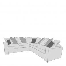 Layla - Pillow Back 2 Seat Sofa RHF Arm, Corner With 2 Seat Sofa LHF Arm In Fabric