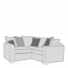 Layla - Pillow Back 1 Seat Sofa RHF Arm, Corner With 1 Seat Sofa LHF Arm In Fabric
