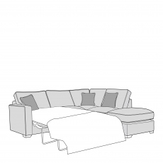 Dallas - Standard Back 2 Seat Sofabed LHF Arm with RHF Chaise Unit Including Footstool