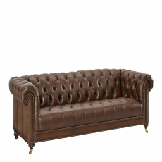 Churchill - 3 Seat Sofa In Leather Vintage LLS