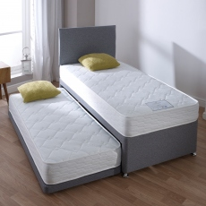 Buddy Guest Bed - Guest Bed Inc 2 x Open coil memory Matts in Grey 90cm