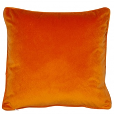 Regal Velvet Cushion Orange