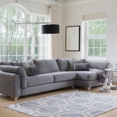 Linara - Large Static End Sofa LHF Arm In Fabric