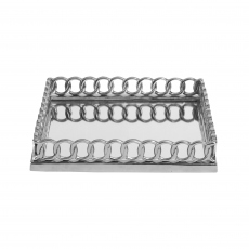 Chain Link Tray - Mirrored Large