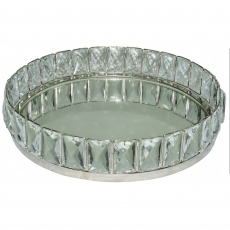 Allure Crystal Tray - Mirrored Large