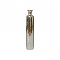 Stainless Steel Medium - Hammered Fluted Vase