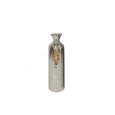 Hammered Fluted Vase - Stainless Steel Small