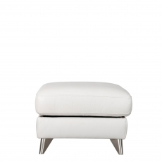 Lecce - Footstool In Leather