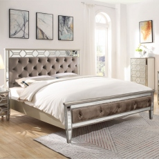Ruby - Mirrored Bed Frame