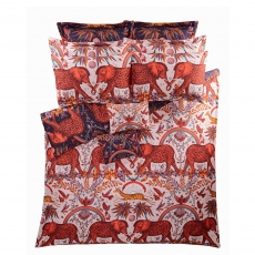 Emma Shipley Zambezi Wine/Blush Pillowcase Square Oxford