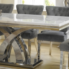 Caesar - 180cm Dining Table In Bone White