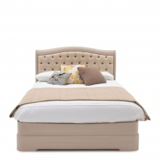 Avignon - Bedframe With Buttoned Headboard - Taupe Painted Finish 180cm (Super King)