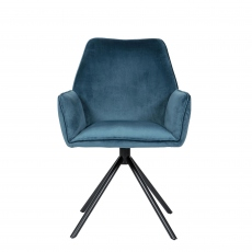 Fraser - Dining Chair - In Blue Velvet