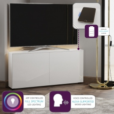 Paragon - 110CM Corner TV Unit In White Gloss