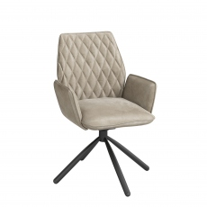 Swivel Dining Chair In Dark Grey - Rossi