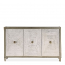 Horizon - 3 Door Sideboard - Silver Paint Finish