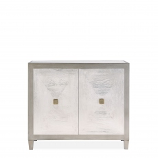 Horizon - 2 Door Sideboard -Silver Paint Finish