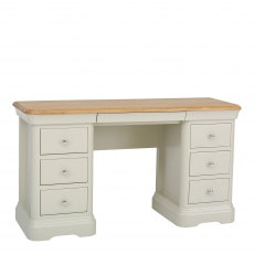 Oliver - Double Dressing Table Morning Dew/Lacquer Top