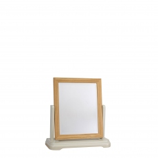 Oliver - Dressing Table Mirror Morning Dew/Lacquer Top