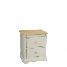 Oliver - Bedside Chest 2 Drawers Morning Dew/Mist Top