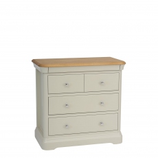 Oliver - Chest Of 2+2 Drawers Morning Dew/Lacquer Top