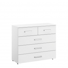 Alpen - 3+2 Drawer Chest In AN806 Alpine White
