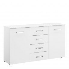 Alpen - 2 Door/4 Drawer Combi Chest In AN806 Alpine White