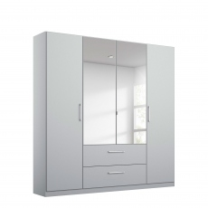 Cologne - 4 Door/2 Drawer Hinged Robe 2 Mirror Door