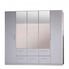 Cologne - 5 Door/6 Drawer Hinged Robe 3 Mirror Door