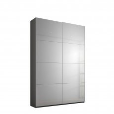 Odyssey - 137cm Gliding 2 Door Robe Grey Mirror Doors
