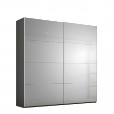 Odyssey - 181cm Gliding 2 Door Robe Grey Mirror Doors
