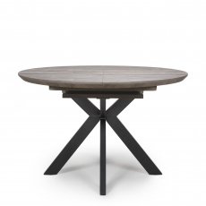 Rochester - 120cm Extending Round Table Grey Oak Finish Top