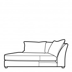 Collins & Hayes Miller - Fixed Cover Chaise Unit 1 Arm LHF In Fabric