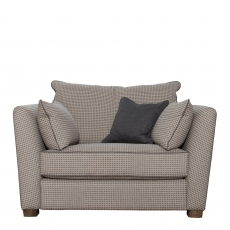 Collins & Hayes Maple - Fixed Cover Standard Back Snuggler Sofa In Fabric