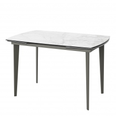 Vinci - Light Grey Ceramic Extending Dining Table