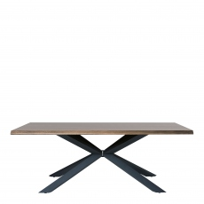 Orba - Dining Table 160x90cm Smoked White Wild Oak Veneer