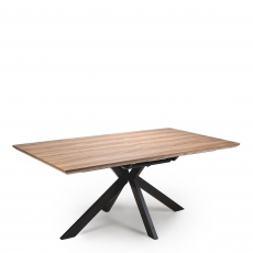 Rochester  - 180cm Rectangular Extending Dining Table Oak Finish Top